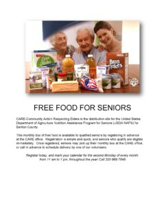 Free food for seniors